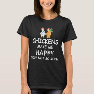 Los pollos le hacen me feliz no tanto la camiseta