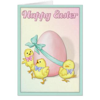 Los polluelos celebran Pascua Tarjeta De Felicitación