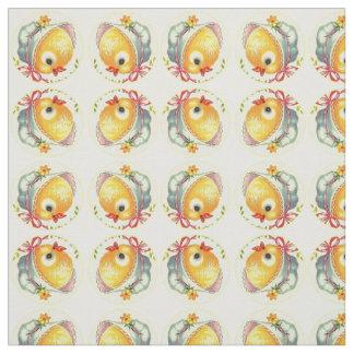 Los polluelos del bebé peinaron la tela de algodón