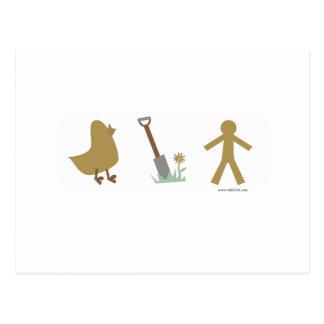 Los polluelos me cavan postal