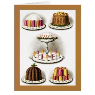 Los postres y la repostería y pastelería del tarjeta de felicitación grande
