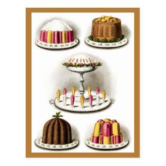 Los postres y la repostería y pastelería del postal