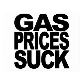Los precios de la gasolina chupan postal