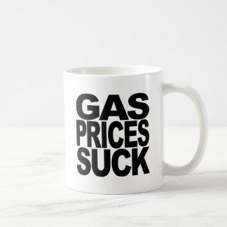 Los precios de la gasolina chupan taza clásica