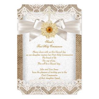 Los primeros 1ros chicas de la comunión santa invitación 12,7 x 17,8 cm