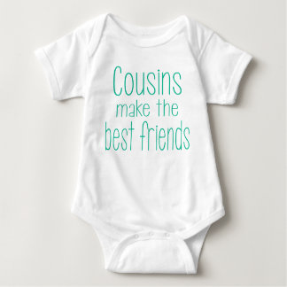 Los primos hacen los mejores amigos el equipo del body para bebé