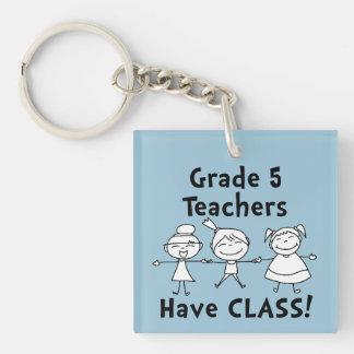 ¡Los profesores del _del grado tienen clase! Llavero Cuadrado Acrílico A Doble Cara