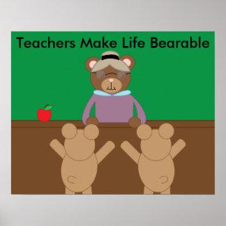 Los profesores hacen vida personalizable póster