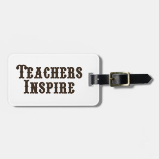 Los profesores inspiran etiqueta para maletas