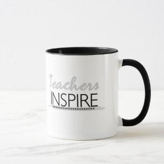 Los profesores inspiran taza