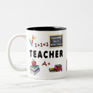 Los profesores lo hacen con la clase taza dos tonos