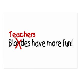 Los profesores se divierten más postal