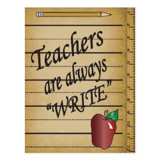 """Los profesores son """"ESCRIBEN siempre """" Postal"""