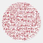 Los programadores tienen habilidades programadas m etiqueta redonda