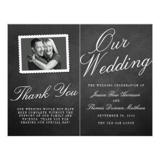 Los programas de la colección del boda de la folleto 21,6 x 28 cm