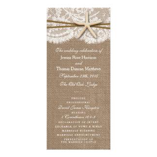 Los programas rústicos de la colección del boda de lonas personalizadas
