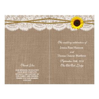 Los programas rústicos de la colección del boda folleto 21,6 x 28 cm