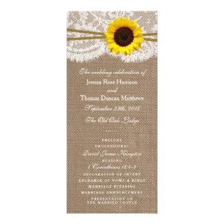 Los programas rústicos de la colección del boda plantilla de lona