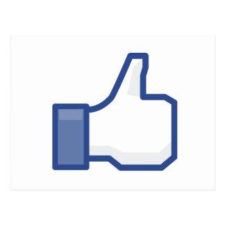 los pulgares del facebook para arriba TIENEN GUSTO Postal