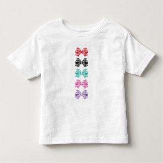 Los puntos blancos de los arcos coloridos - camiseta de bebé