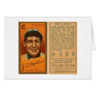 Los puntos Miller piratean el béisbol 1911 Tarjeta