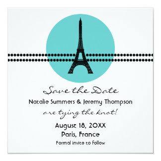 Los puntos parisienses de la MOD ahorran la fecha Invitación 13,3 Cm X 13,3cm