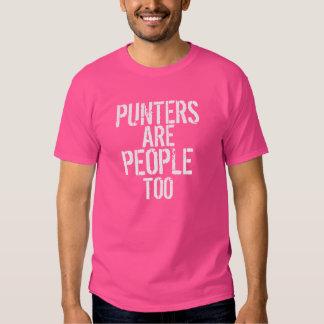 Los puntos son camiseta blanca rosada demasiado