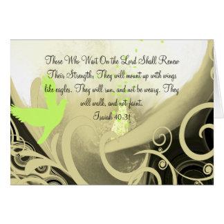Los que esperan en el señor Renew Their Strength Tarjeta