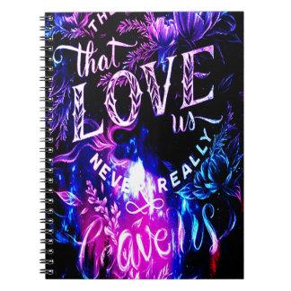 Los que nos aman en cielo Amethyst del invierno Cuaderno
