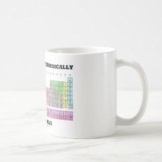 Los químicos lo hacen periódicamente con las taza básica blanca