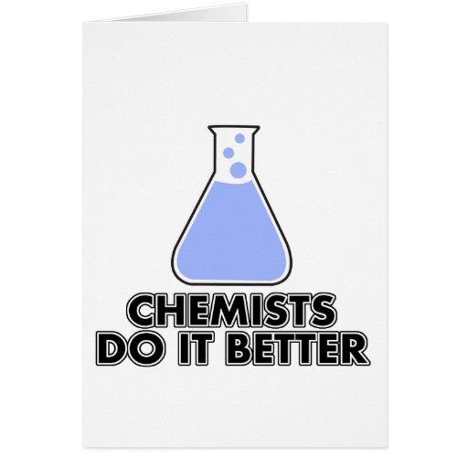 los químicos mejora felicitacion