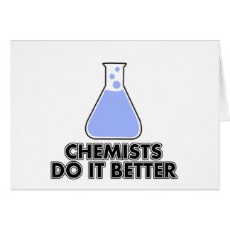 los químicos mejora tarjeta de felicitación