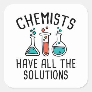 Los químicos tienen todas las soluciones pegatina cuadrada