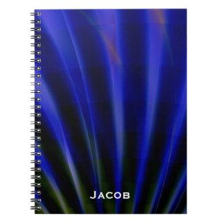 Los rayos azules personalizaron el cuaderno