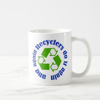 Los recicladores lo hacen tazas