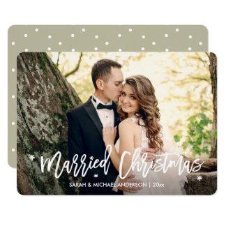 Los recienes casados casaron la foto de la invitación 12,7 x 17,8 cm
