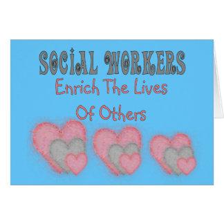 """Los regalos del asistente social """"enriquecen las v tarjeta de felicitación"""
