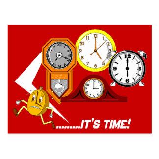 Los relojes del recordatorio de la cita es POSTAL