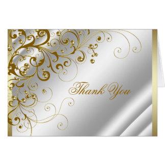 Los remolinos elegantes de la marfil y del oro le tarjeta pequeña