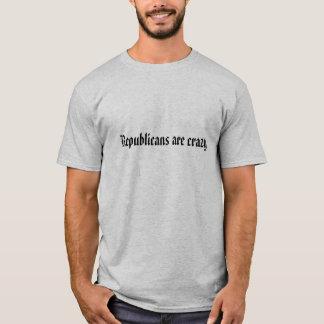 Los republicanos están locos camiseta