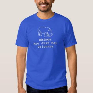 Los Rhinos azules de los hombres son apenas Camisetas