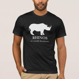 Los Rhinos son camiseta gorda de los unicornios