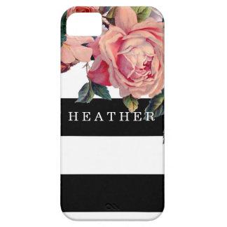 Los rosas anchos elegantes MODERNOS de las rayas w iPhone 5 Case-Mate Cárcasa