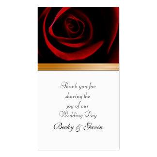 Los rosas de la etiqueta del regalo del favor del tarjetas de visita