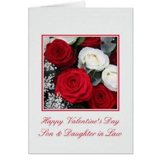 Los rosas de la tarjeta del día de San Valentín