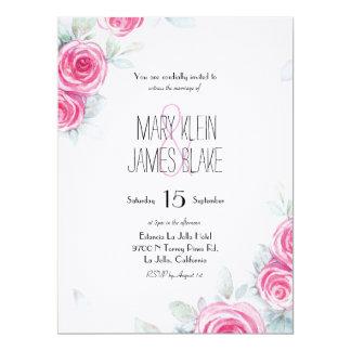 Los rosas descolorados el | que se casa invitan invitación 16,5 x 22,2 cm