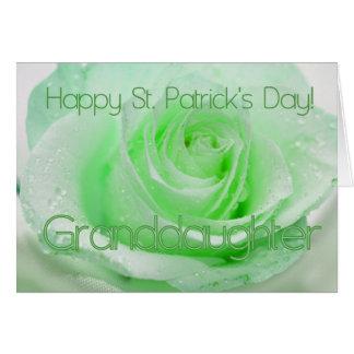 los rosas irlandeses de St Patrick de la nieta Tarjeta De Felicitación