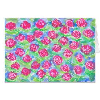 Los rosas son brillantes tarjeta de felicitación