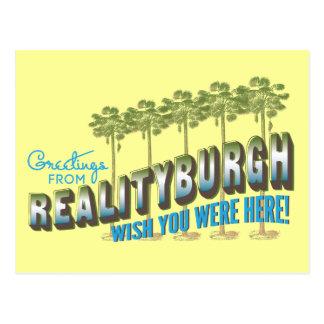 Los saludos de Realityburgh - deseo usted estaba Postal