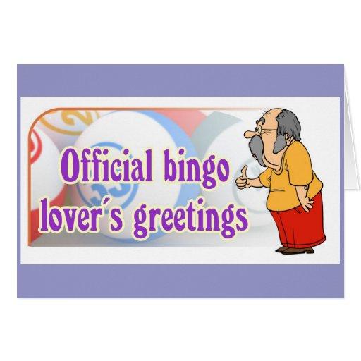 Los saludos del amante oficial del bingo felicitacion
